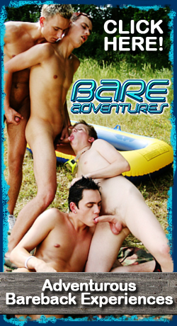 Bare Adventures - Gay twinks and athletic guys bareback sex and cum eating